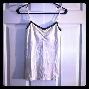 Victoria Secret cami white w black trim size med